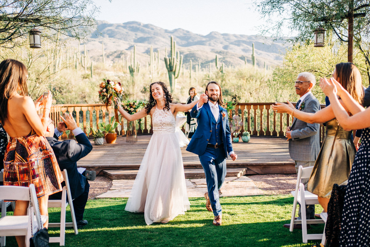 Bride and Groom married at Tanque Verde Ranch in Tucson, Arizona