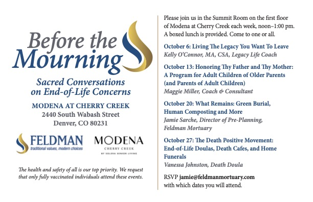 Before the Mourning: Sacred Conversations on End-of-Life Concerns