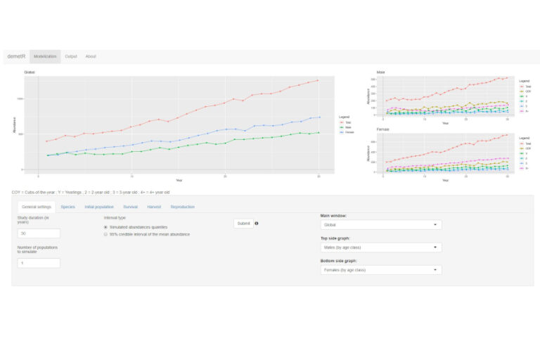 demetR: a Bayesian population simulation web-application for harvest management