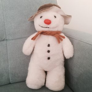 This is The Snowman I was given by my ballet teacher on stage at the end of the concert I missed. The memory is so vivid I cry just thinking about that 5yo girl who stood on that stage, dressed in her costume, wondering why she couldn't join in, her plaster cast was as white as snowflake after all. My Snowman has been well cared for all these years and will always remain on display in my home x