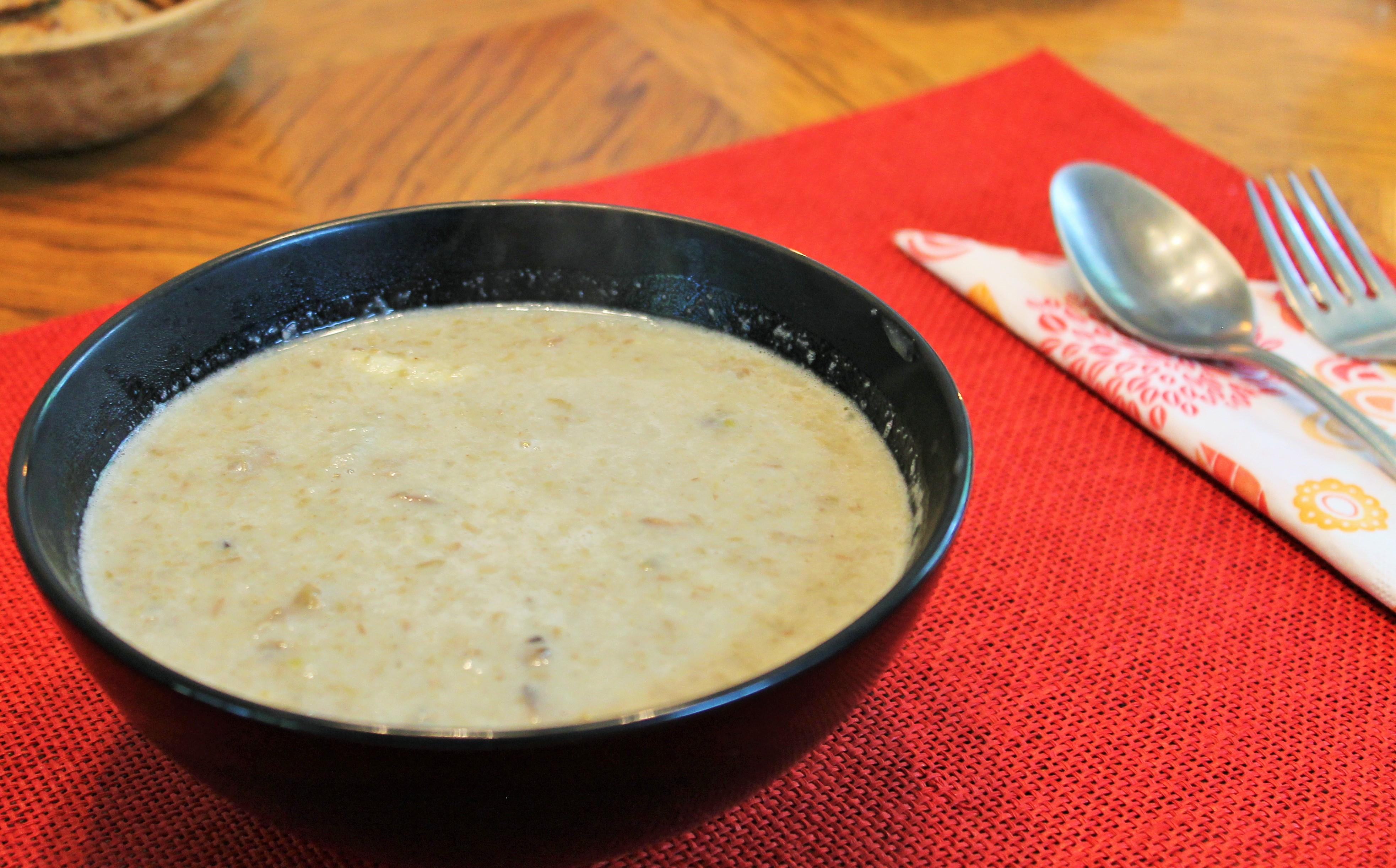 Creamy Lentil Mushroom Soup