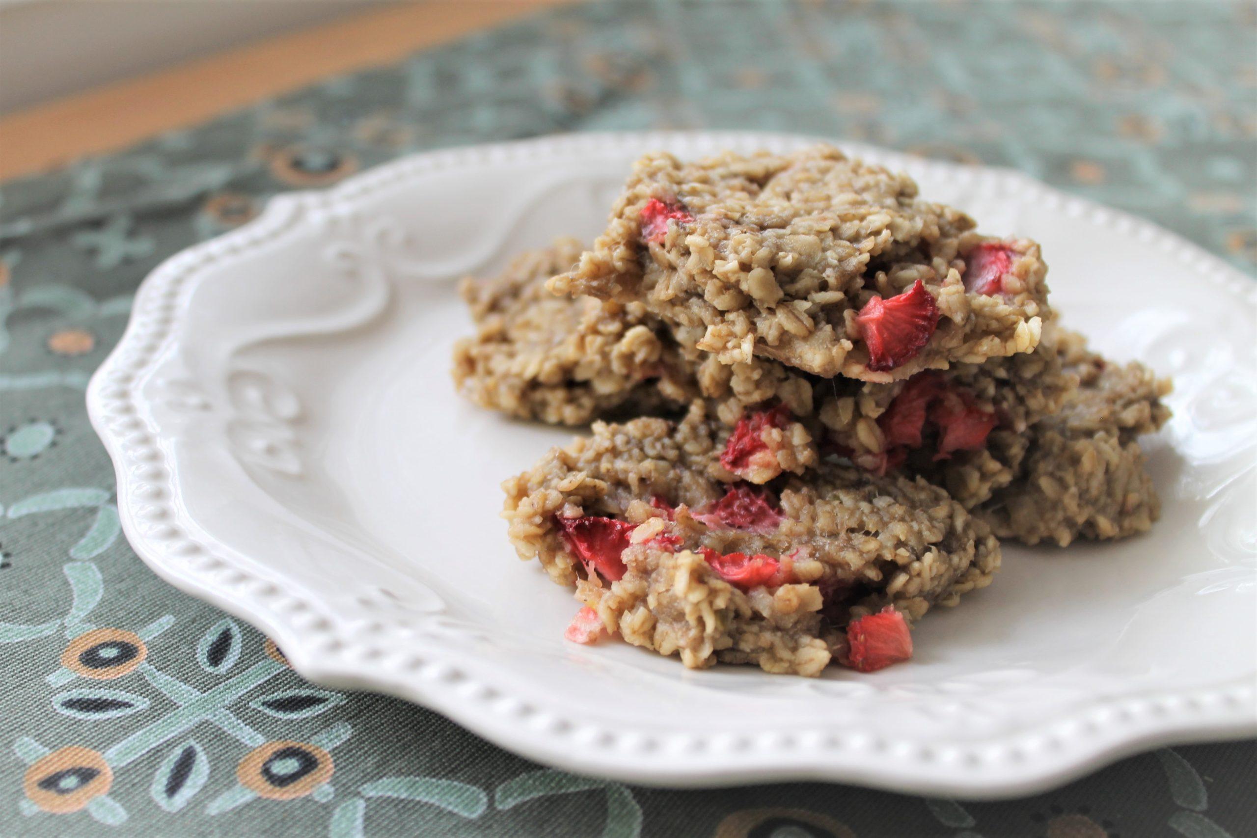 Strawberry Banana BLW Cookies