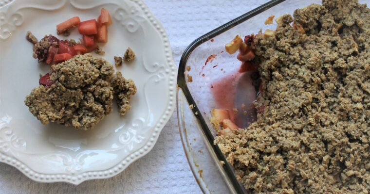 Baked Apple Strawberry Crumble