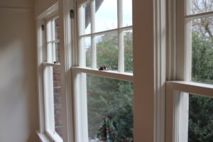 how to paint a double hung window