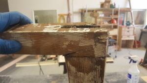 broken window sash joint