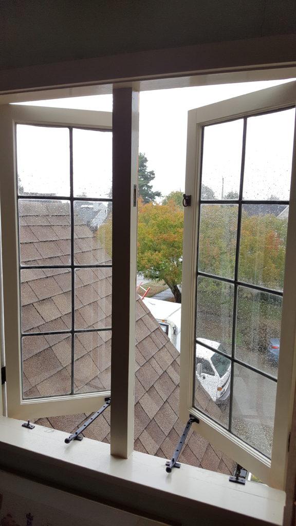 an opened out swing casment window in seattle wa
