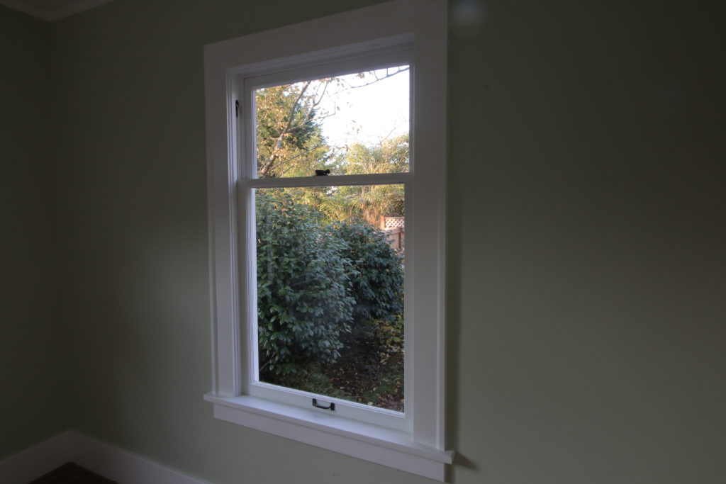fully restored single pane double hung window