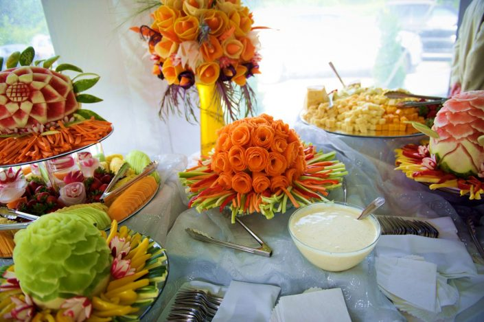 Cheese & fruit display