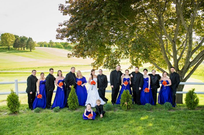 Wedding party outside
