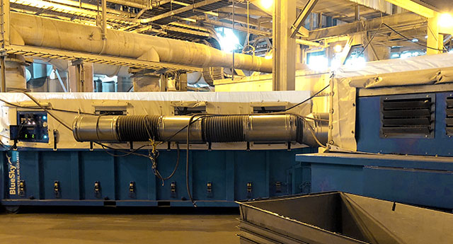 Dust collector power plant