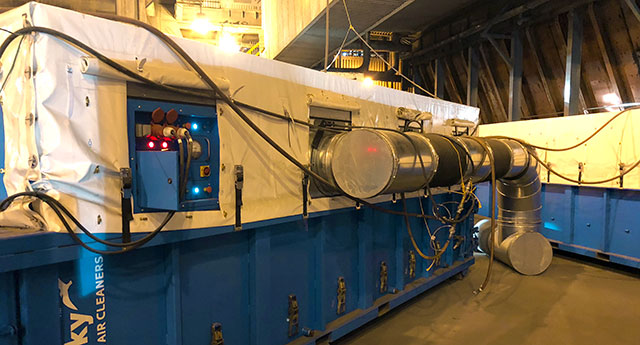 Industrial dust collector power plant
