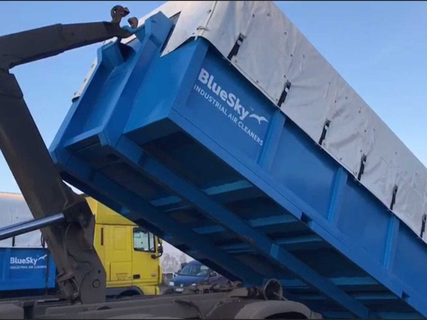 Lead dustcollector delivered by BlueSky