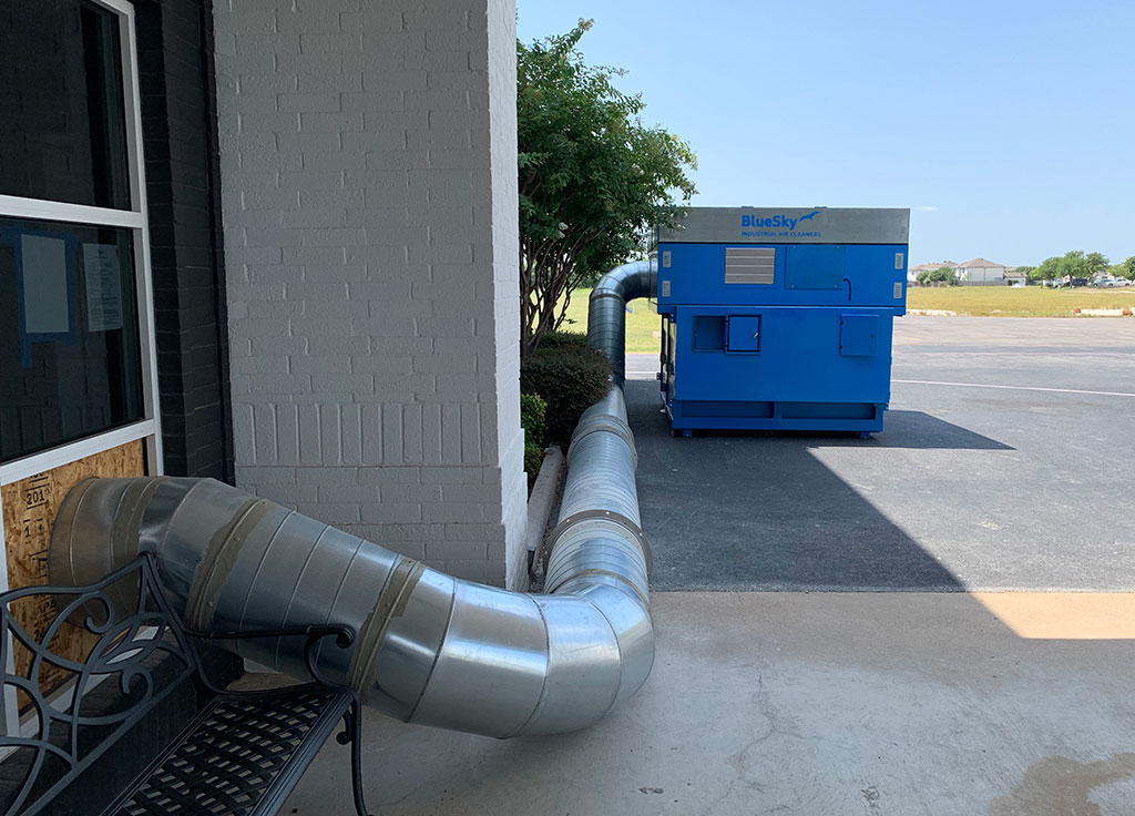 HEPA air filtration system installation 2