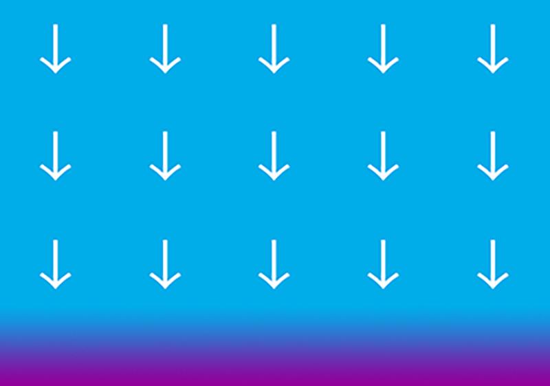 blue-air-white-arrows-down