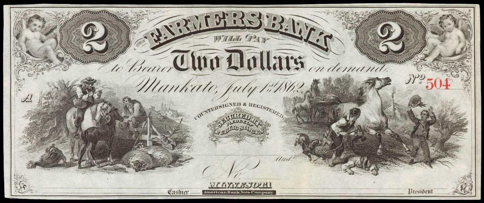 $2 Farmers Bank of Mankato