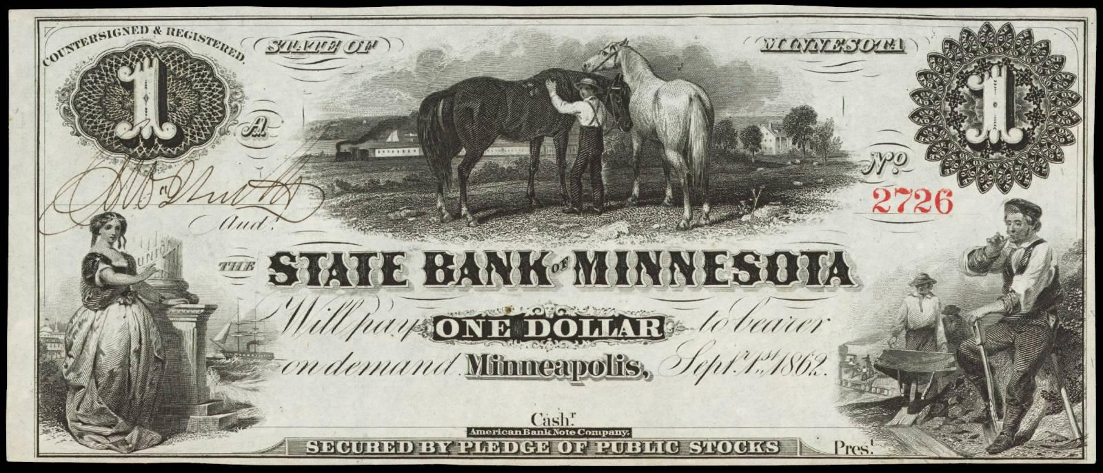 $1 State Bank of Minnesota