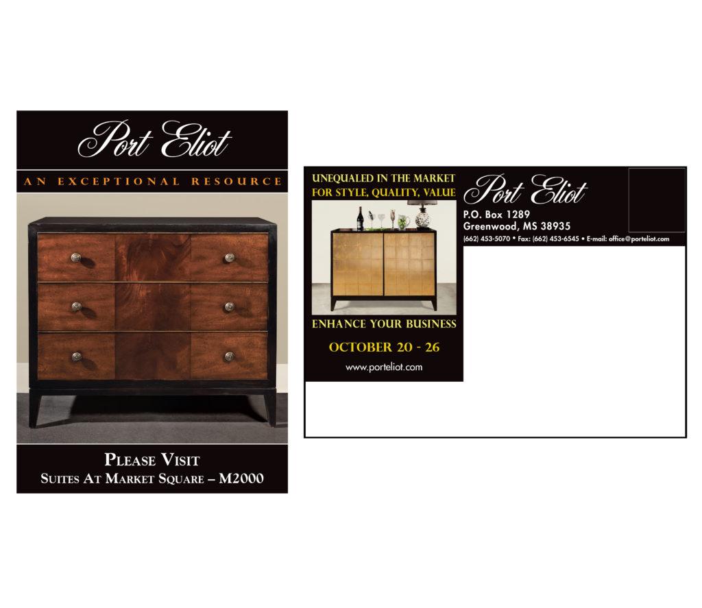 Furniture Market Invitation Postcard Design