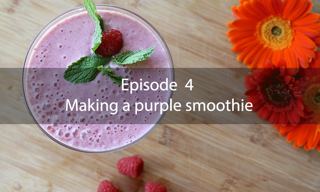 The Mix – Episode 4 – Making a purple smoothie