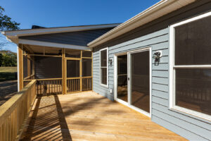 Deck and screened porch