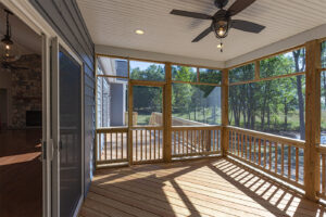Inside the screened porch