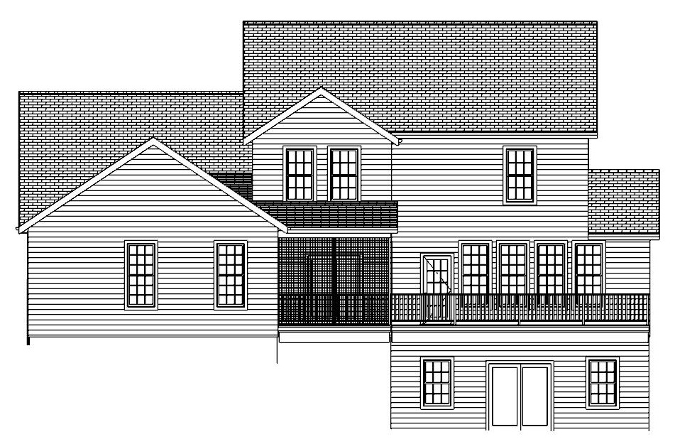 The Liberty, Rear Elevation