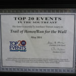 2014 STS TOP 20 Event Southeast Certificate