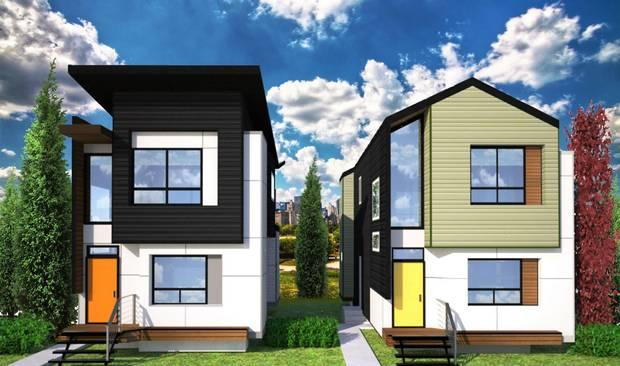 Skinny Edmonton homes flaunt bold design in a 'conservative community' – The Globe and Mail