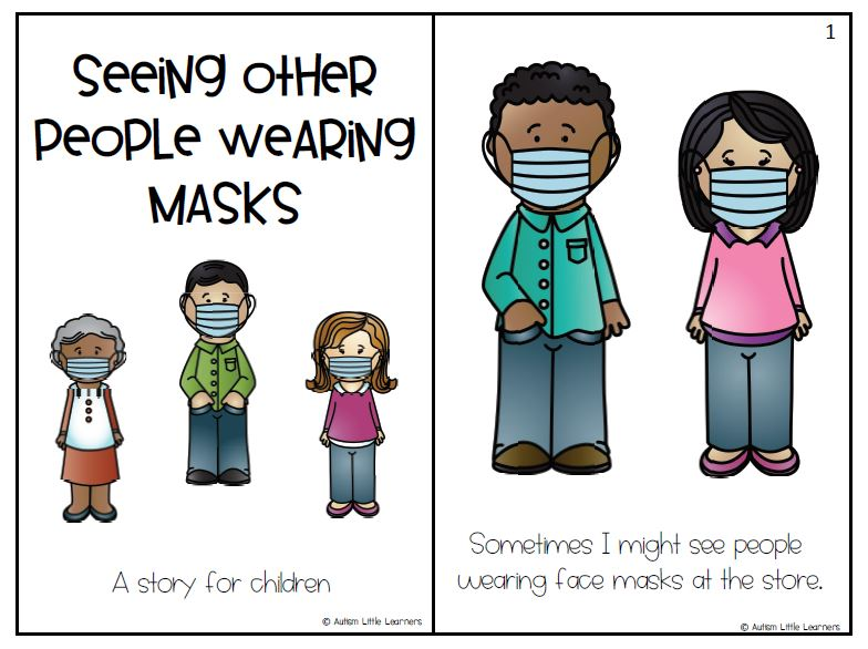 SEE OTHER PEOPLE WEARING MASKS