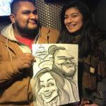 A fun loving pair. Caricature by Ghaisar