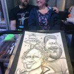 Ghaisar's Caricatures of a couple
