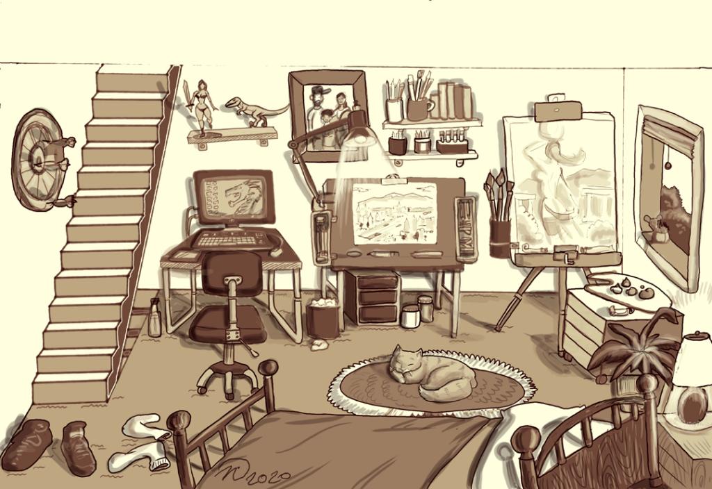 Nick's Isolation Art space