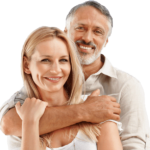 Happy couple after successful GainsWave male enhancement treatment