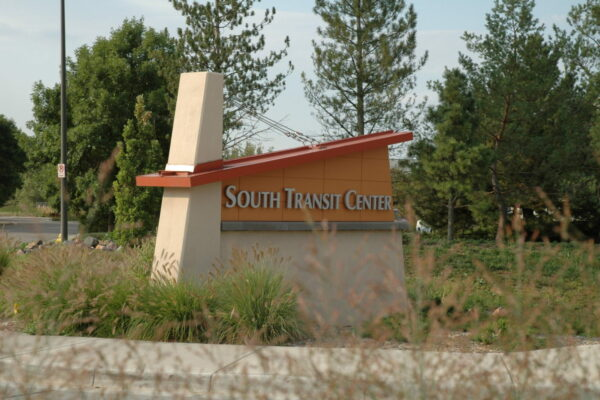 Fort Collins South Transit Center - Monument Sign