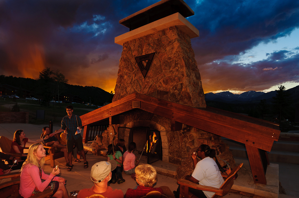 YMCA of the Rockies - Evening Around the Fireplace