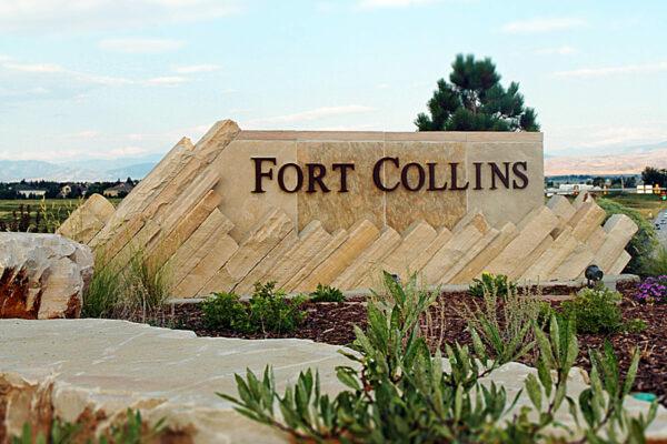 Fort Collins Entry Monument Sign - 392 Interchange