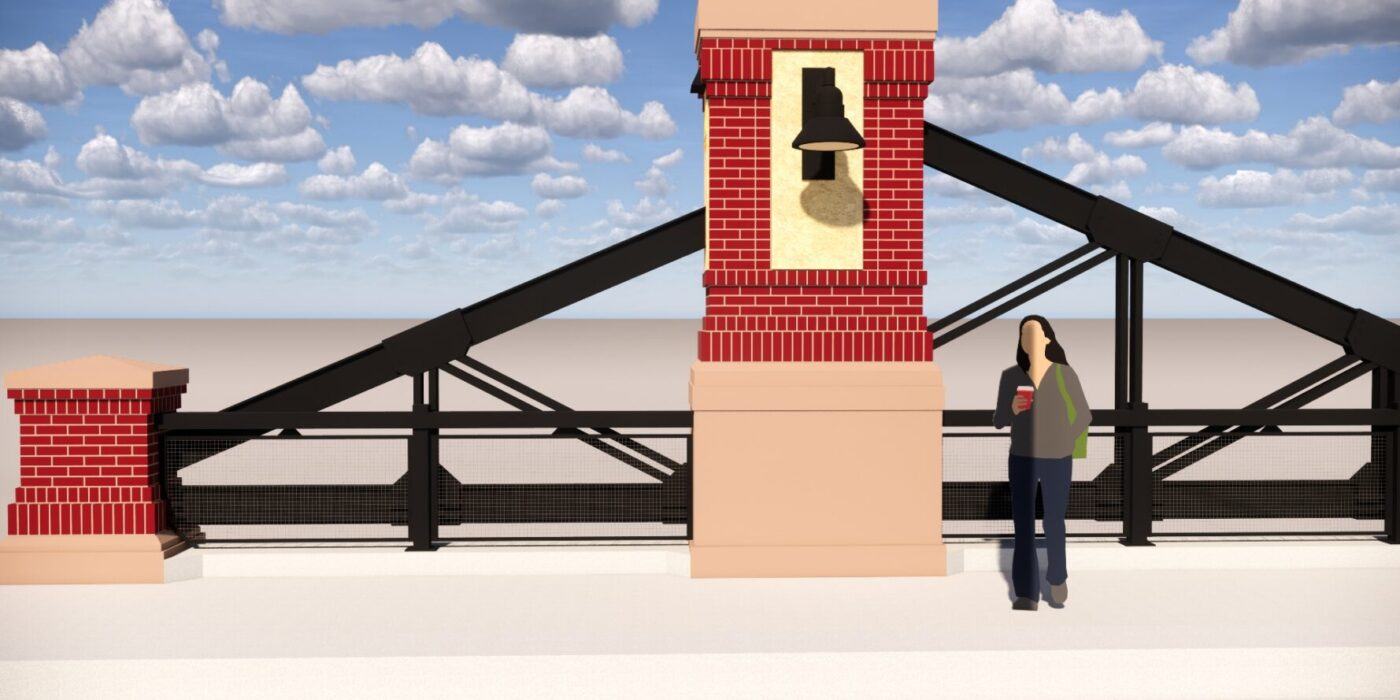 Erie Bridge Masonry Column Rendering