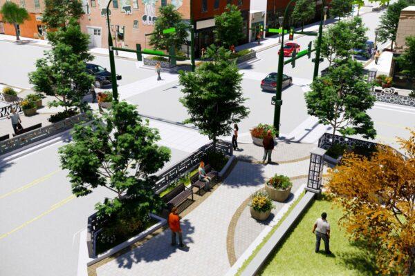 Berthoud Mountain Ave Corridor Plan - Streetscape