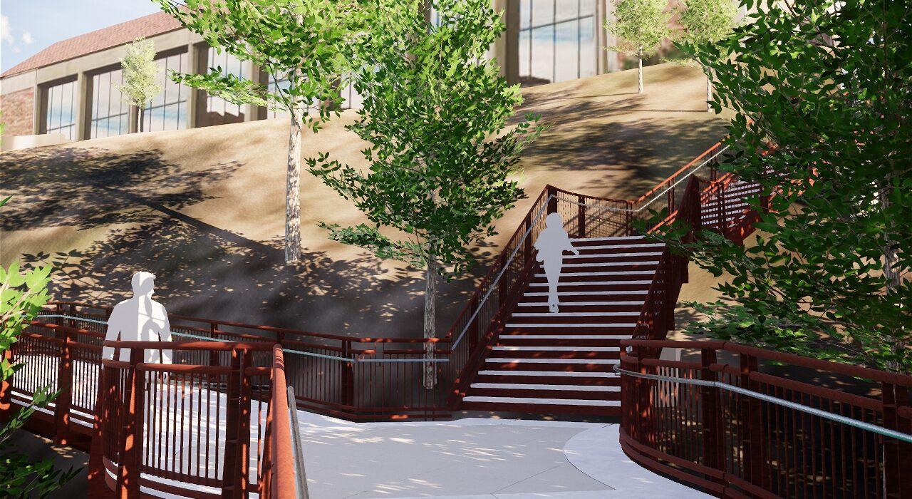 CU 19th Street Bridge Stair Connection