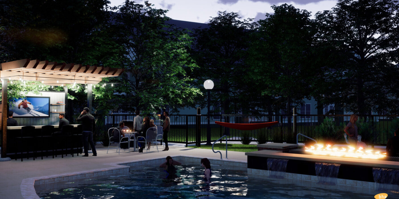 Rams Pointe Pool and Bar Rendering