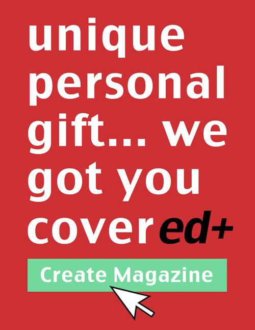 create a unique personalized gift magazine
