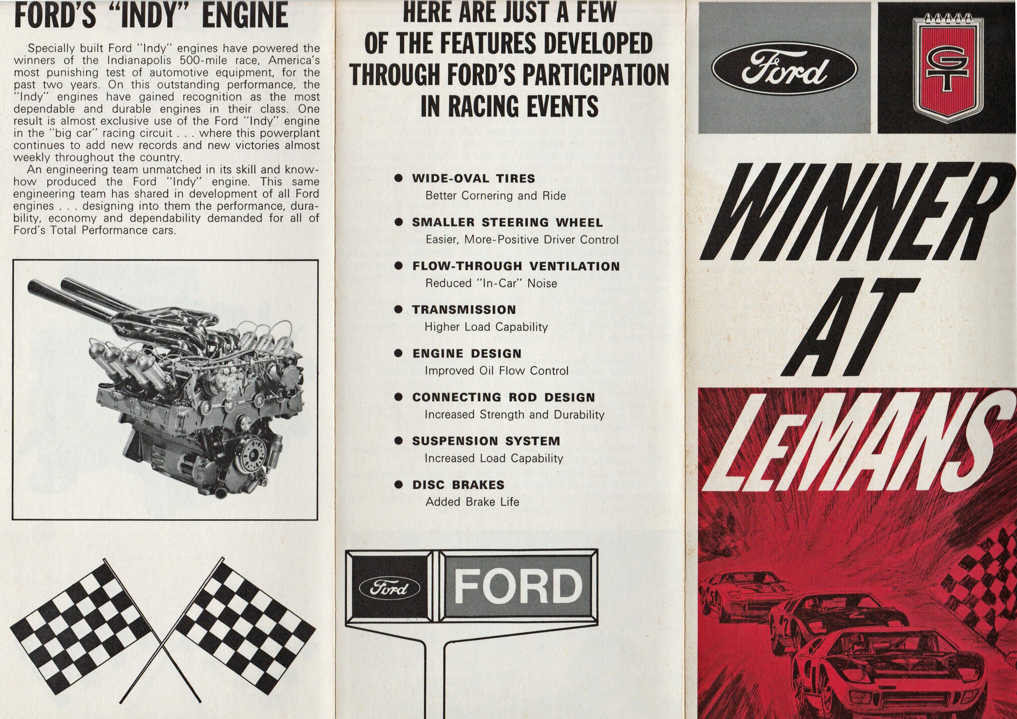 1966 Ford GT40 Le Mans Brochure