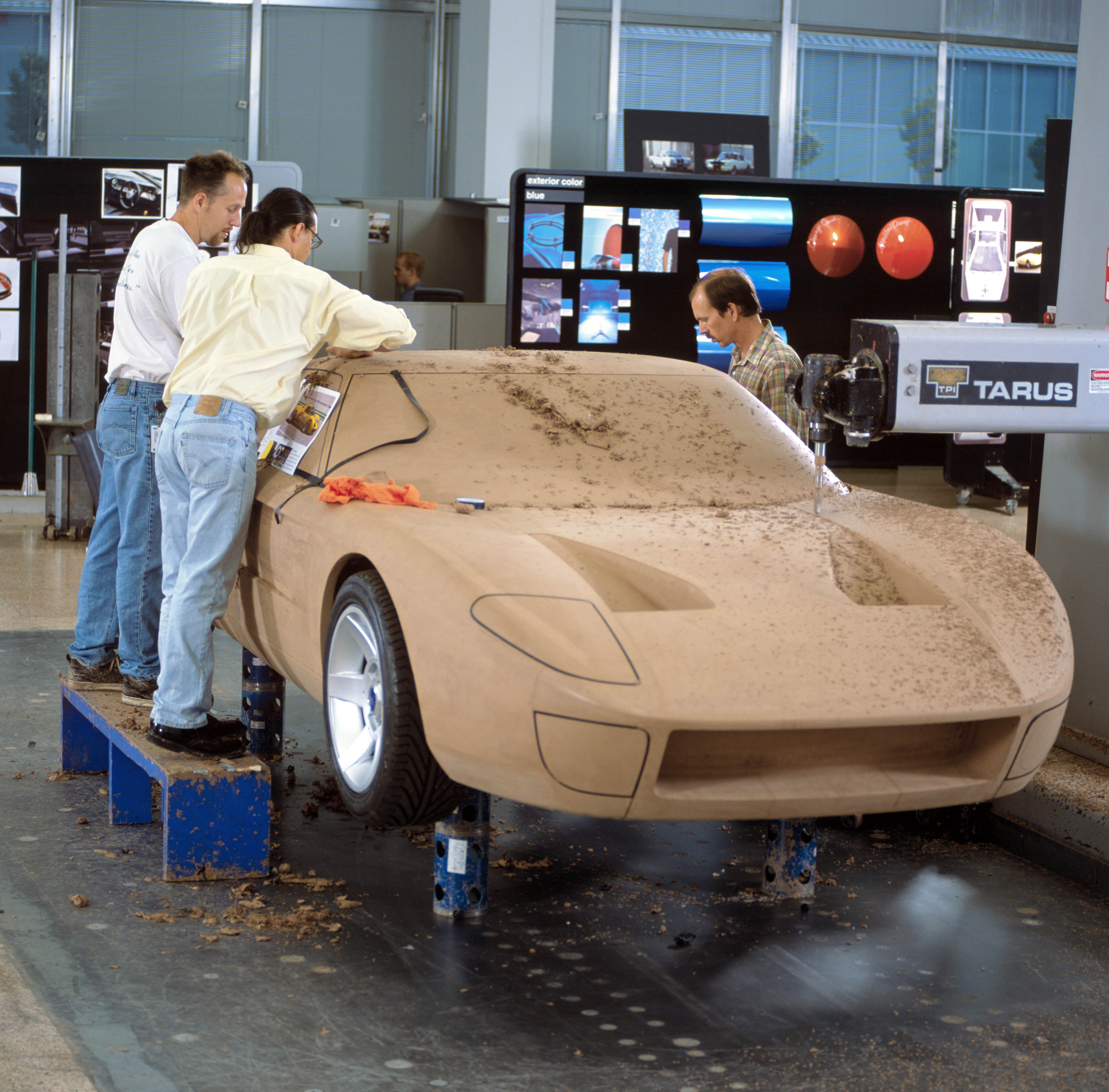 Ford GT40 Concept Clay Design Front