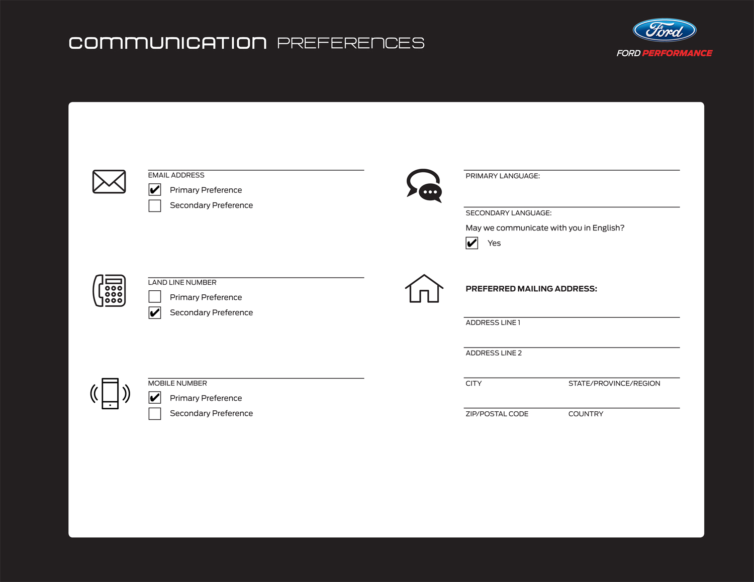 Preferences Ford GT
