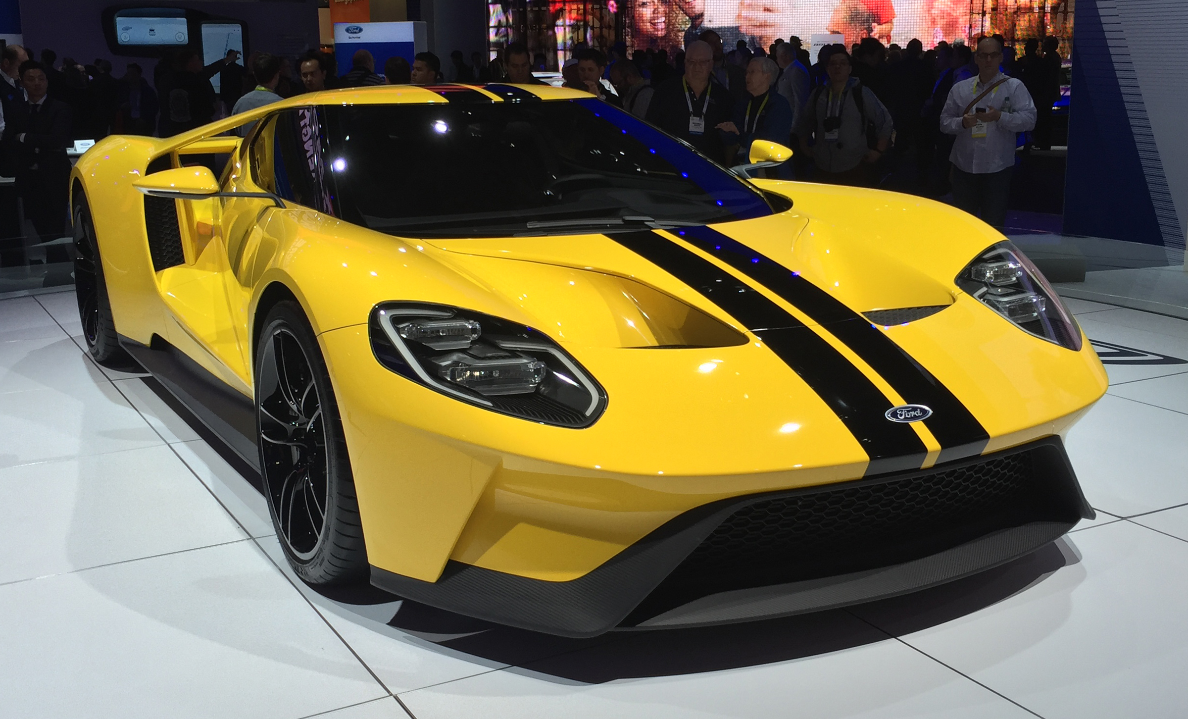 2017 Ford GT Yellow CES Front