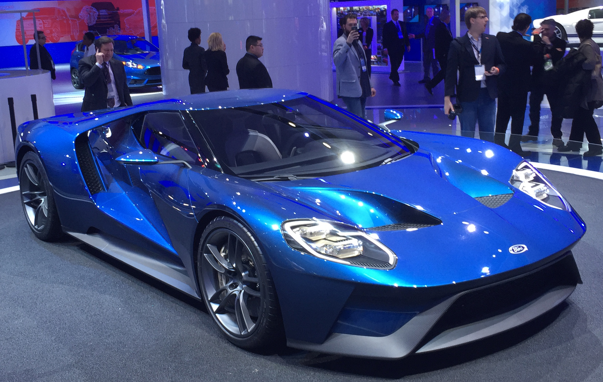 New Ford GT Detroit Auto Show Ford Booth