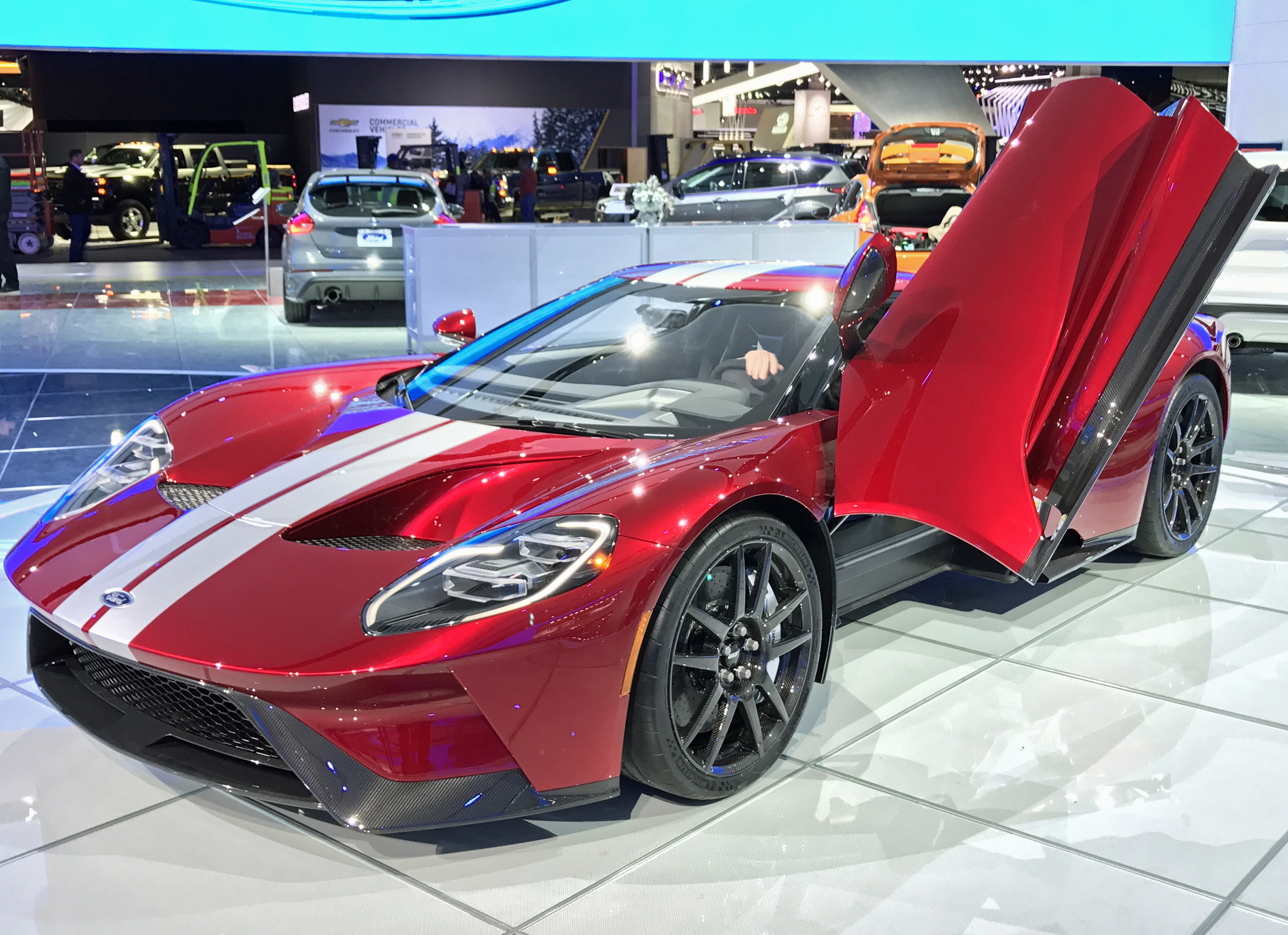 New Ford GT Detroit Show Liquid Red