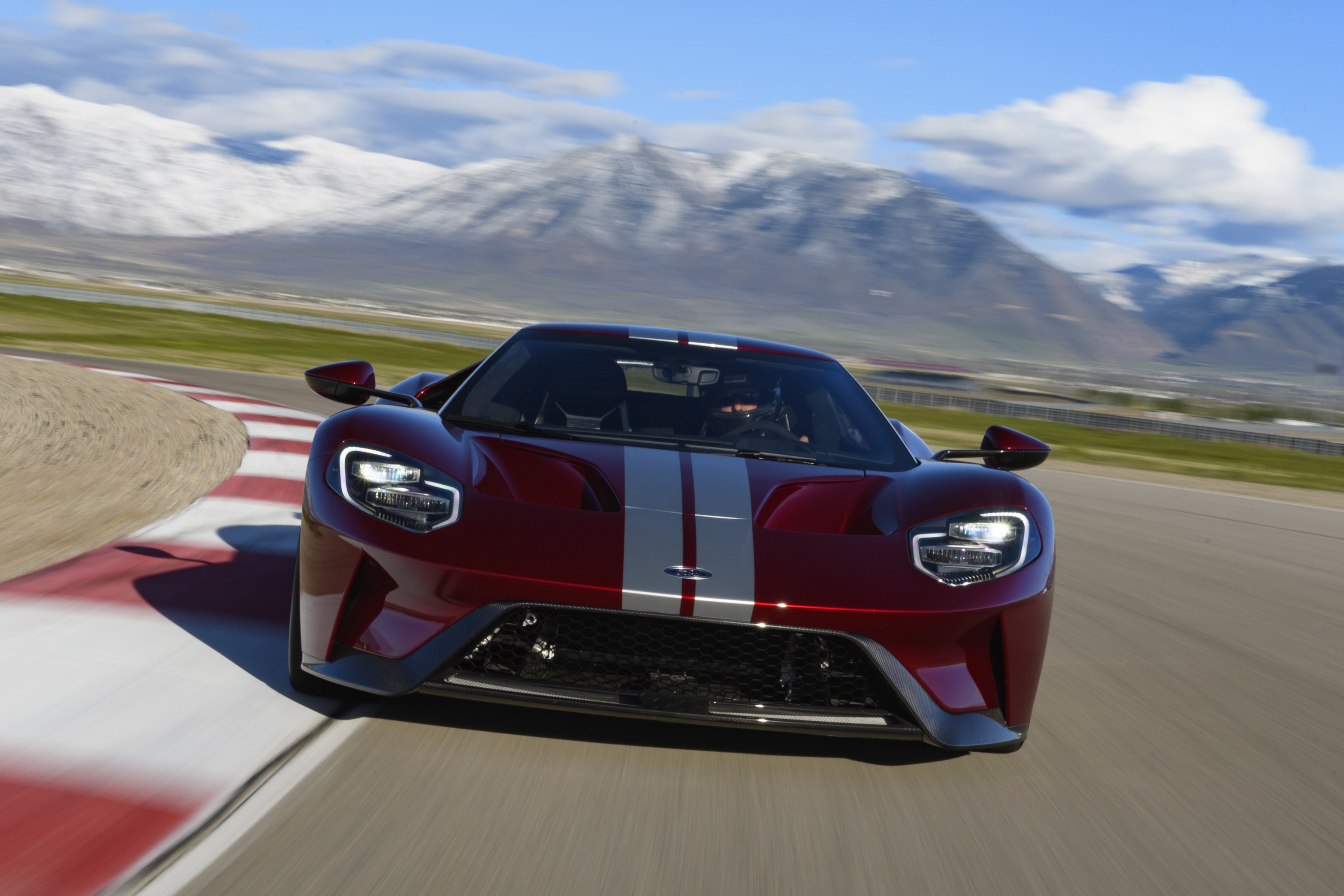 New Ford GT Red and Silver Press Launch