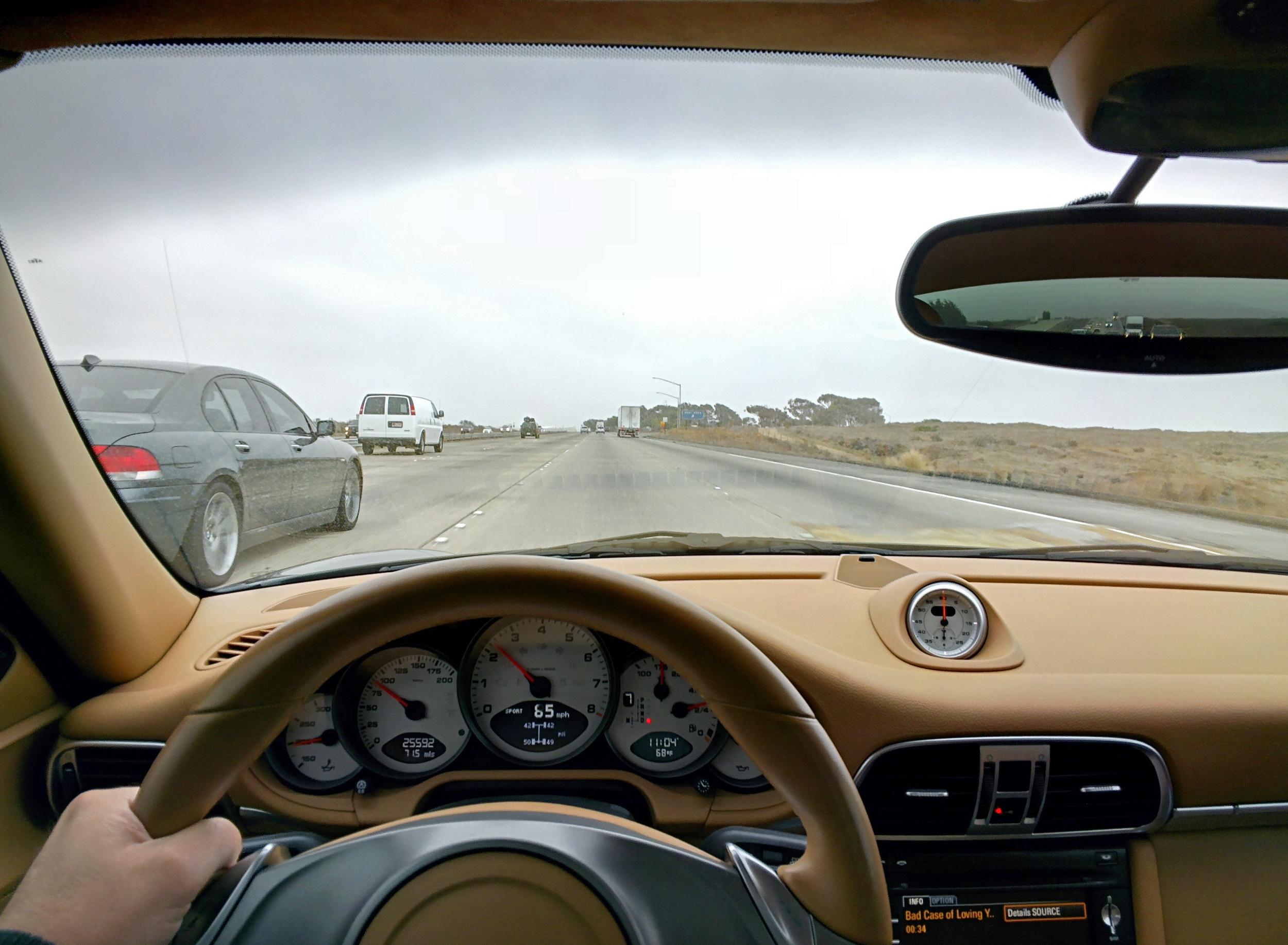 Porsche 911 Carerra S Driving