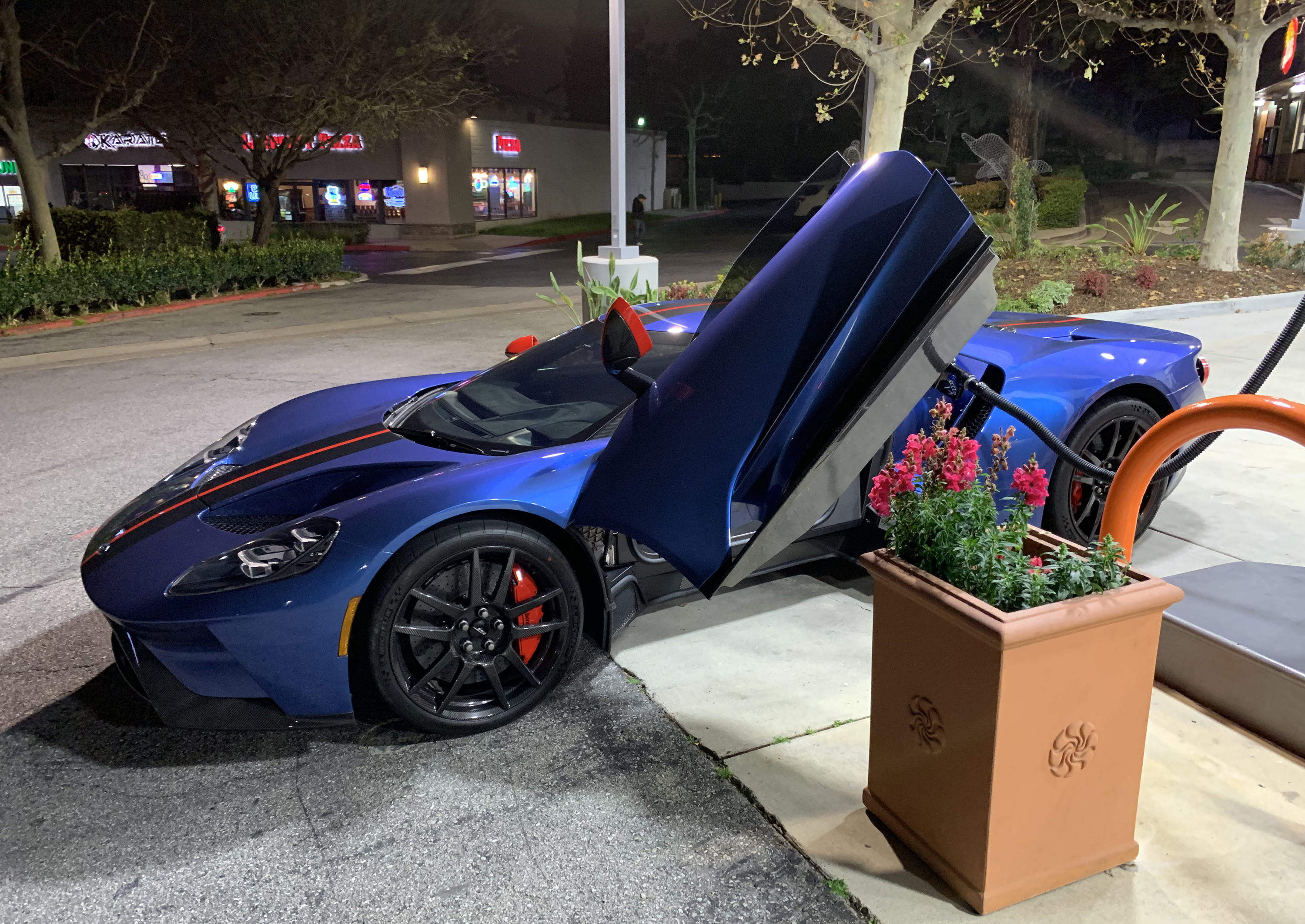2019 Ford GT Carbon Series Gas Station Door Open