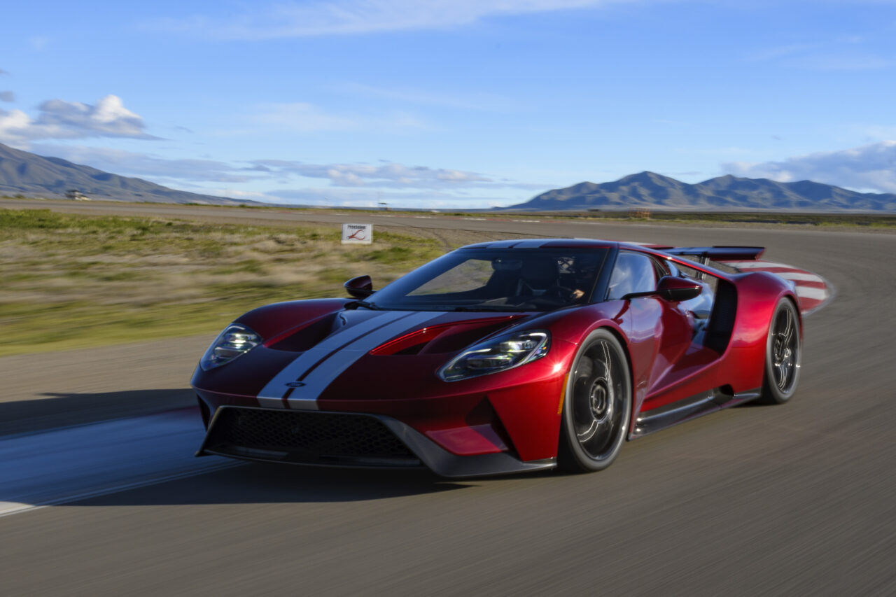 Red Silver Ford GT Track